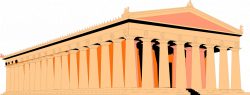 Parthenon clipart greek architecture