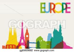 Europe clipart silhouette