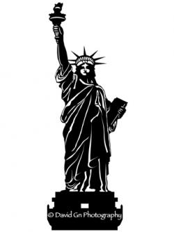 Statue Of Liberty clipart black and white