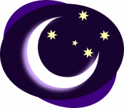 Moon clipart late night