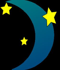 Evening clipart crescent moon