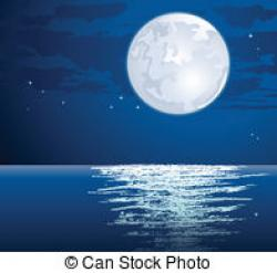 Moonlight clipart vector