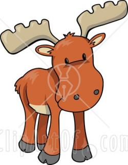 Caribou clipart cute christmas animal