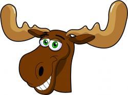 Drawn moose animated