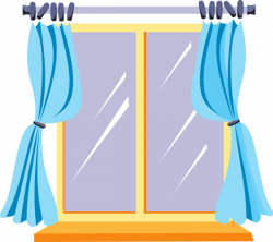 Curtain clipart house window