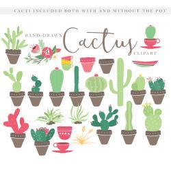 Flowerpots clipart cactus