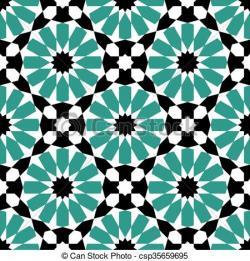 Mosaic clipart moroccan