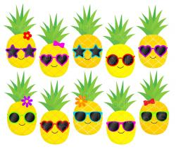 Pineapple clipart sunglass
