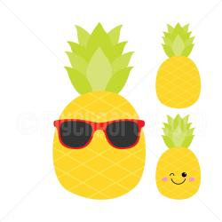 Mosaic clipart pineapple