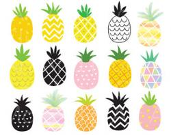 Pineapple clipart tropical fruit
