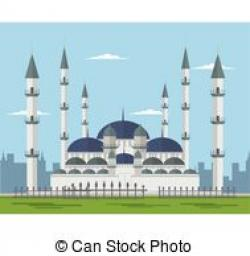 Mosque clipart blue mosque
