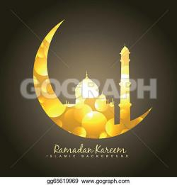 Mosque clipart moon