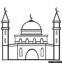 Mosque clipart outline