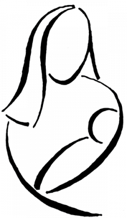 Indian clipart mother and child