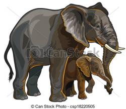 Herbivorous clipart mother and baby