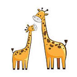 Mommy clipart baby giraffe