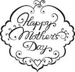 Mother's Day clipart black and white