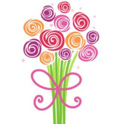 Mother's Day clipart bouquet