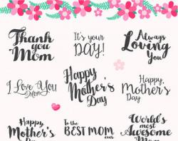 Mother's Day clipart calligraphy