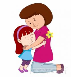 Mother's Day clipart hug