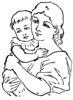 Mother's Day clipart indian mom