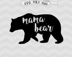 Mother's Day clipart mama bear