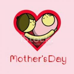 Mother's Day clipart me mom