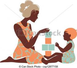 Mother's Day clipart mother infant