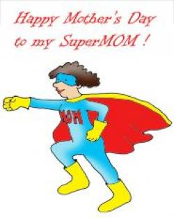 Mother's Day clipart super mom