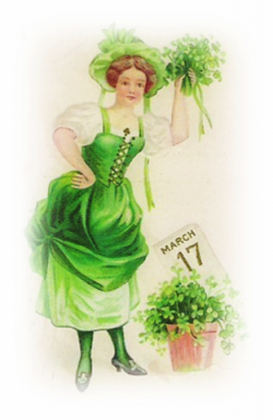 Irish clipart vintage