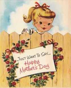 Mother's Day clipart vintage