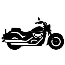 Harley Davidson clipart silhouette