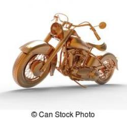 Motorcycle clipart brown