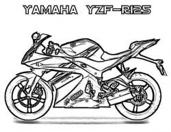 Yamaha clipart black and white