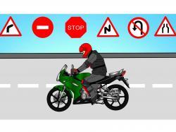 Biker clipart momentum
