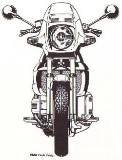 Motorcycle clipart front view