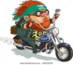 Biker clipart funny