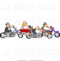 Motorcycle clipart group riding