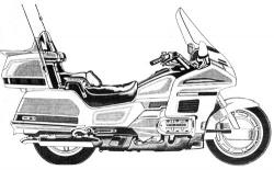 Motorcycle clipart honda goldwing