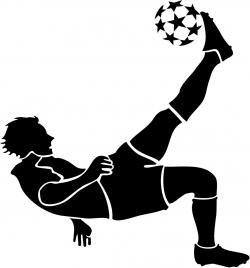 Soccer clipart bicycle kick