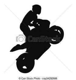 Stunt clipart motorcycle wheelie