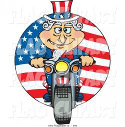 Motorcycle clipart patriotic
