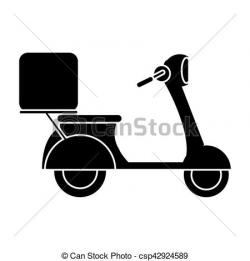 Motorcycle clipart pictogram