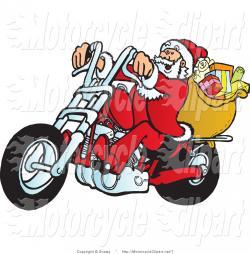 Motorcycle clipart santa reindeer