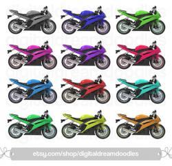 Motorcycle clipart yamaha