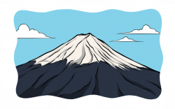 Mount Fuji clipart cartoon
