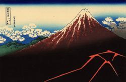 Mount Fuji clipart hokusai