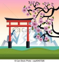 Mount Fuji clipart japan
