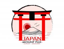 Shrine clipart mount fuji