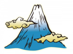 Mount Fuji clipart mountain top